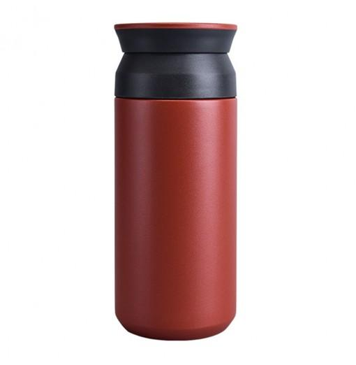 Stainless Steel Vacuum Flask Portable Simple Art Water Filter Cup