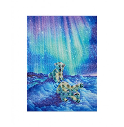 30 x 40cm Polar Bear DIY Diamond Painting Cross Stitch Tool
