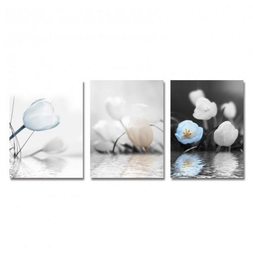 DYC 3PCS Underwater Flower Print Art