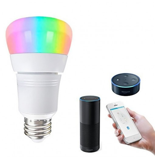 8W Wireless RGBW Smart Bulb Works with Amazon Alexa / APP Control / Google Home