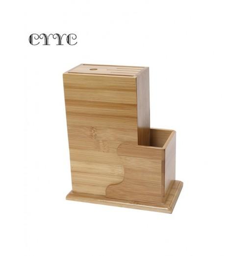 CYYC Multi-purpose Bamboo Knife Rack Kitchen Accessory