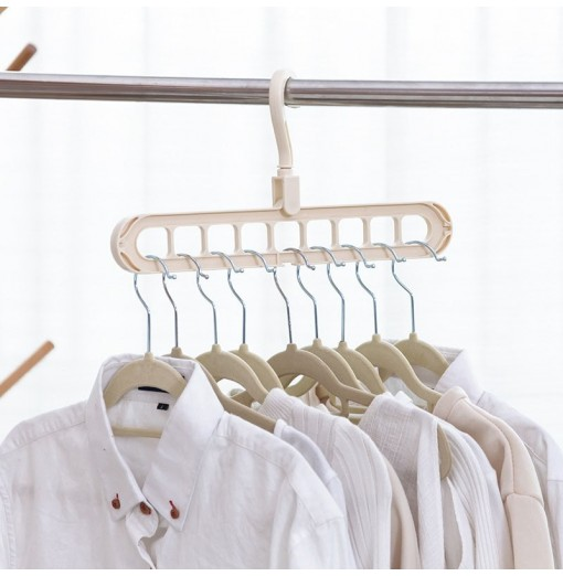 Multifunction Clothes Drying Rack Storage Hanger for Wardrobe Outdoor Balcony