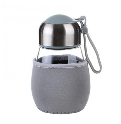 DIHE Cute Cloth Case Potbelly Penguin Glass Cup High Temperature Resistance