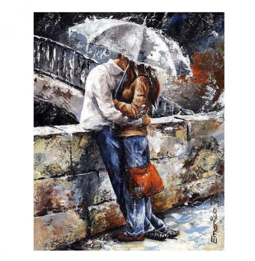 Romantic Lover Digital Oil Hand Painting Wall Home Decor