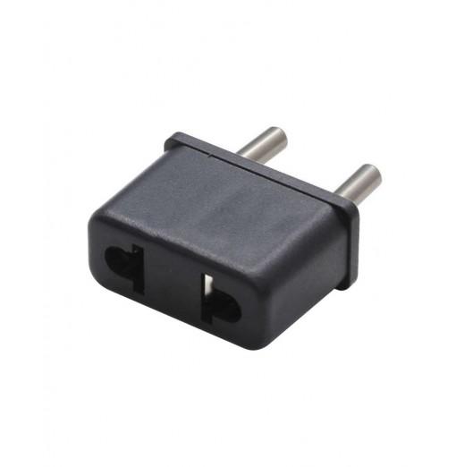 US To EU Adapter Converter Black