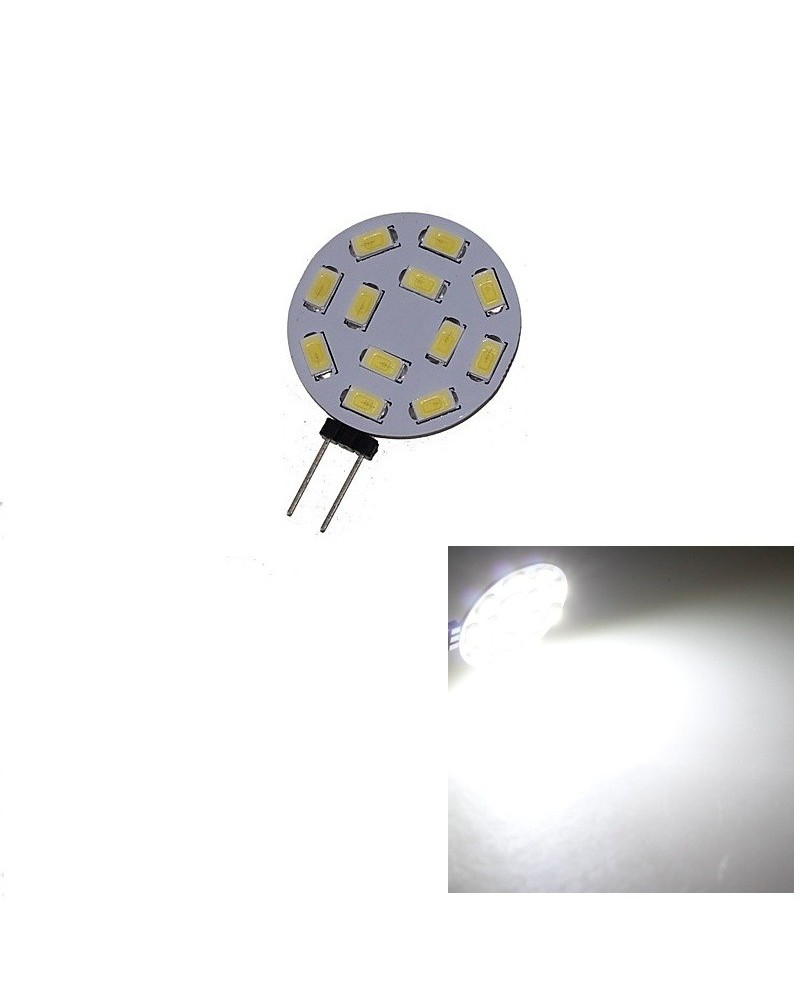 G4 12LEDs SMD5730 DC 12V Circular PlateLED Bi-pin Light