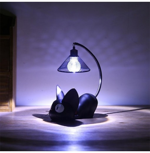 Mini Cute Black Cat Night Light Table Lamp Home