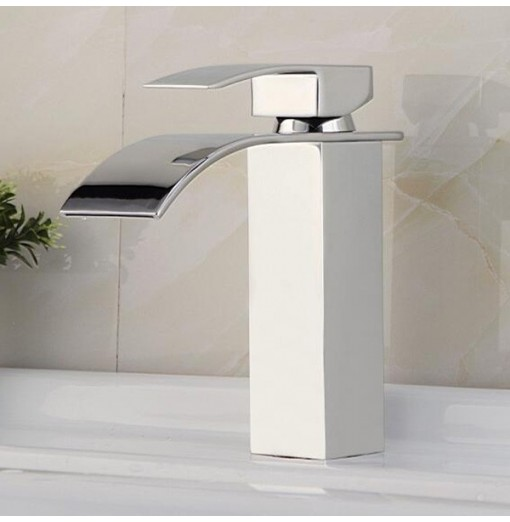 C0007 Total Height 17cm Basin Waterfall Faucet