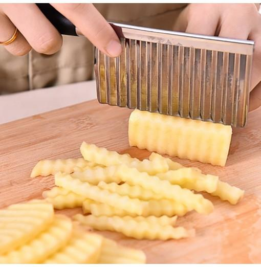 DIHE Wave Shaped Potato Cutter Stainless Steel Knife