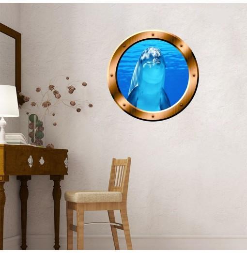3D Wall Stickers Marine Animals Creative Decoration XQ110144