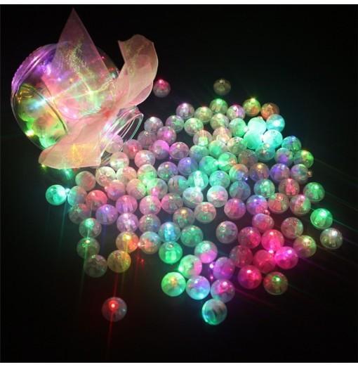 10PCS LED Round Ball Balloon Light Paper Lantern Wedding Party Decor