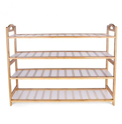 Yangguanggu Bamboo Shoe Rack 4-tier Entryway Shelf Holder