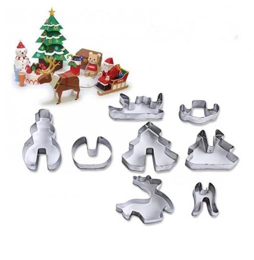 3D Christmas Stereo Cookies Cake Molds Stainless Steel Cookies Molds