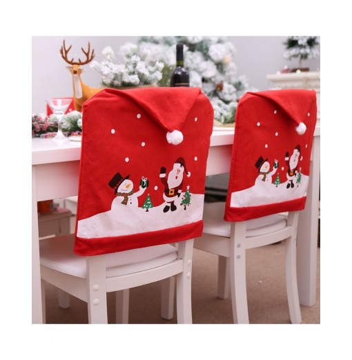 Christmas Theme Chair Back Seat Cover Decorative Prop