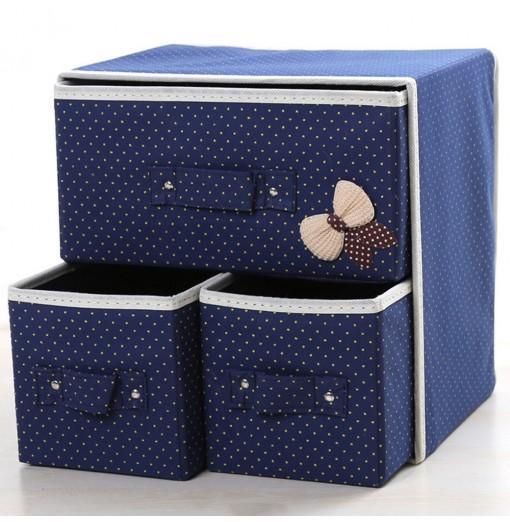 Desk Storage Box Cute Vivid Dots Pattern Large Capacity Box