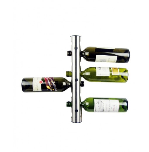 Stainless Steel Wall Mounted Wine Bottle Holder 8 Holes
