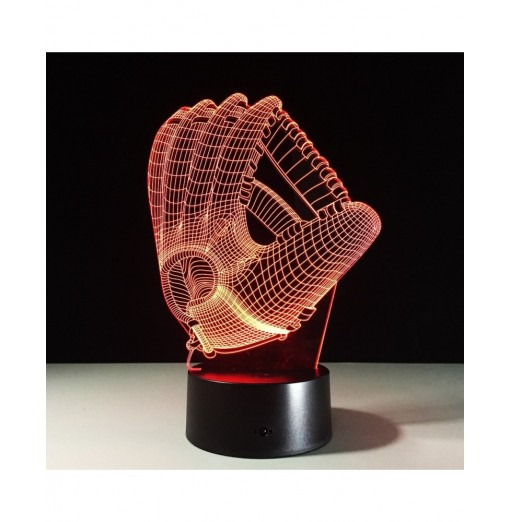 Yeduo 3D Hologram Illusion Palm Night Light LED Color-changing Atmosphere Lamp with USB Charger
