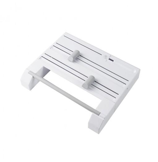 6 in 1 Kitchen Storage Shelf Aluminum Film Plastic Wrap Cutter Rack