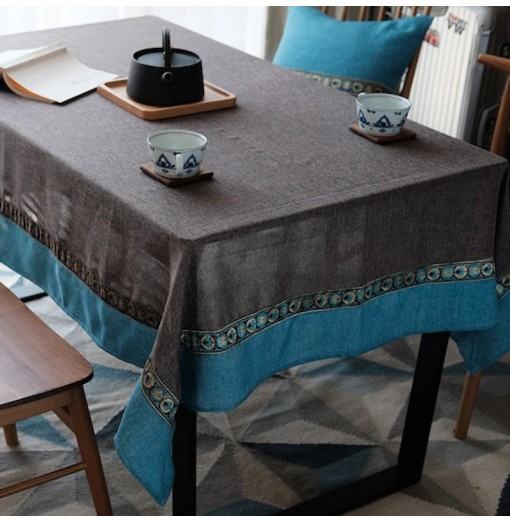 Waterproof Retro American Western Countryside Artistic Lace Tablecloth