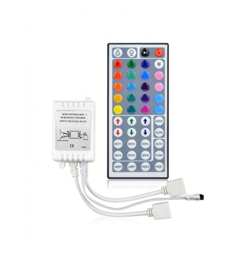 YWXLight 44 Keys Dual Connectors Output IR Remote RGB Dimmer