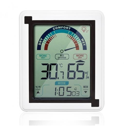 LCD Electronic Weather Clock Temperature Humidity Meter Indicator Thermometer