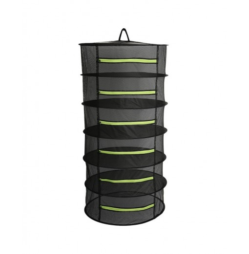 6-layer 60cm Collapsible Drying Hanging Net Hydroponic Plant Flower Herbal Zipper Mesh Rack