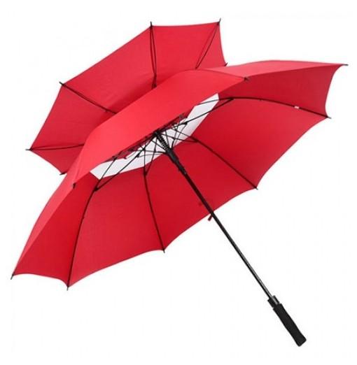 Automatic Opening Golf Umbrella Oversized Double Canopy Ventilation Waterproof Umbrella