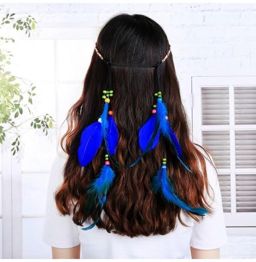 Feather Headband Accessories Festival Women Hippie Adjustable Headdress