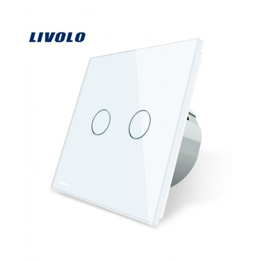 LIVOLO C7 Wall Light 2 Touch Switches Tempered Glass Panel