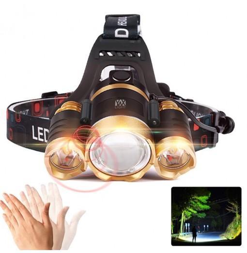 YWXLight XPE-T6 2000Lm White Light Telescopic Zoom Intelligent Induction LED Headlamp