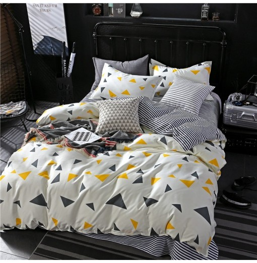 NIUFEISI Printed Aloe Cotton Double Bed Four-Piece Set