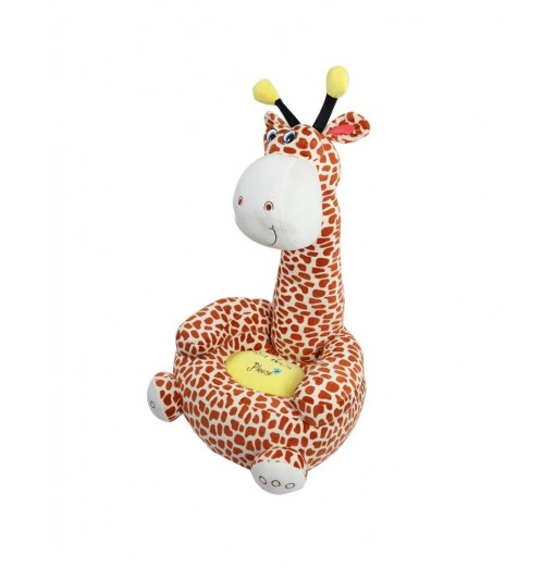 Cartoon Children Kids Seat Sofa Nest Chair Giraffe Plush Toy