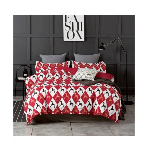 OMONNES Four Sets of Fresh and Simple Sheets on The Bed Are Roman Holiday