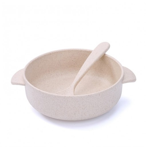 Children Bowl and Spoon Environmental Protection Material of Wheat Straw