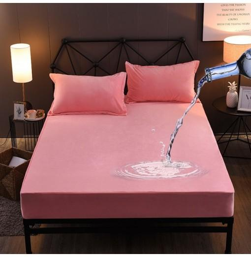 Warm Crystal Wool Water Proof Fitted Bed Sheet