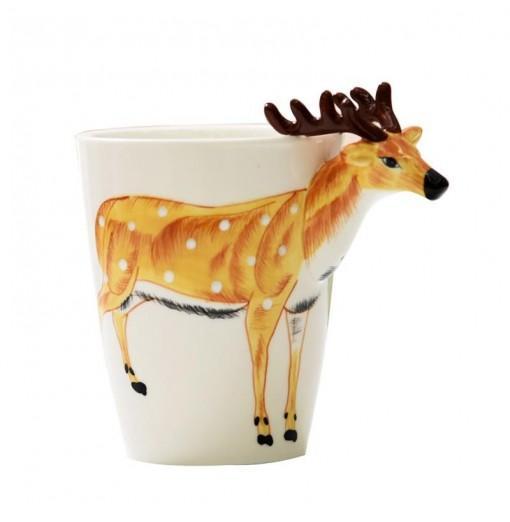 3D Coffee Mug Handmade Hand Painted Creative Art Mug Ceramic Milk Cups