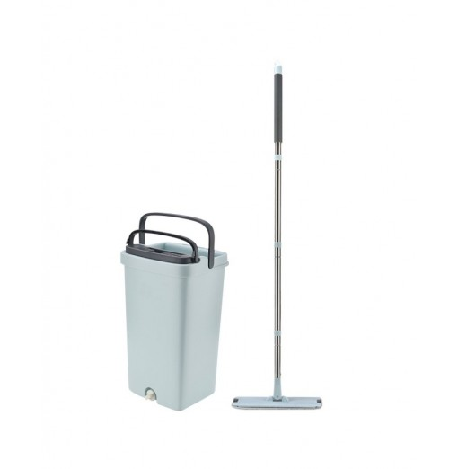 Flat Squeeze Bucket Hand Free Wringing Floor Cleaning Mop