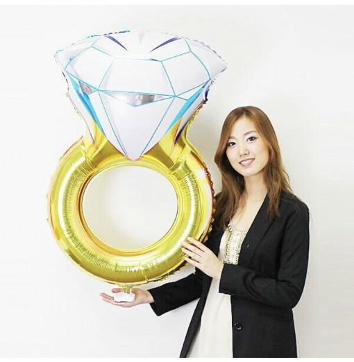 YEDUO Lover Wedding Marriage Balloon Diamond Balloon Bride Ring Engagement Foil Valentine Balloons Party Toys