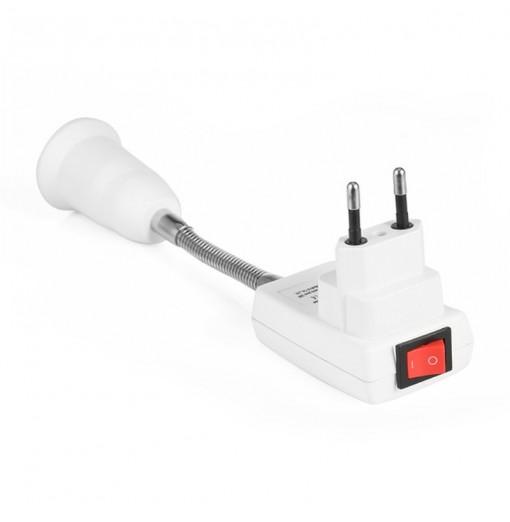 AC 100 - 240V E27 20CM Flexible Lamp Holder Light Lamp Bulb Holder Converter