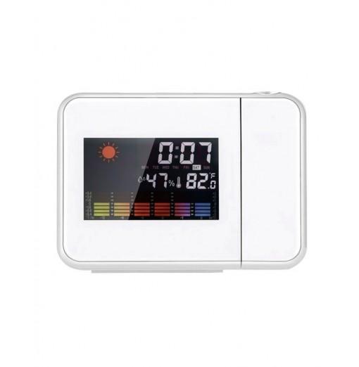 LED Electronic Weather Forecast Projection Alarm Clock