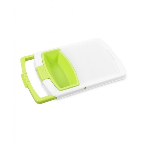 Plastic Cutting Board with Adjustable Multifunctional Drain Basket