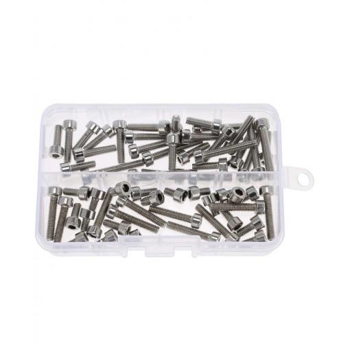 60pcs Stainless Steel Cylinder Hexagon Socket Head Cap Screw