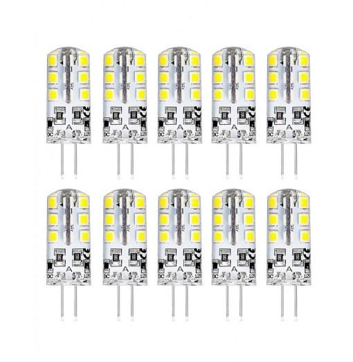 1.8 - 2.2W 10pcs G4 LED Lamp DC 12V Bulb Warm White Light 360 Degree Angle Spotlight