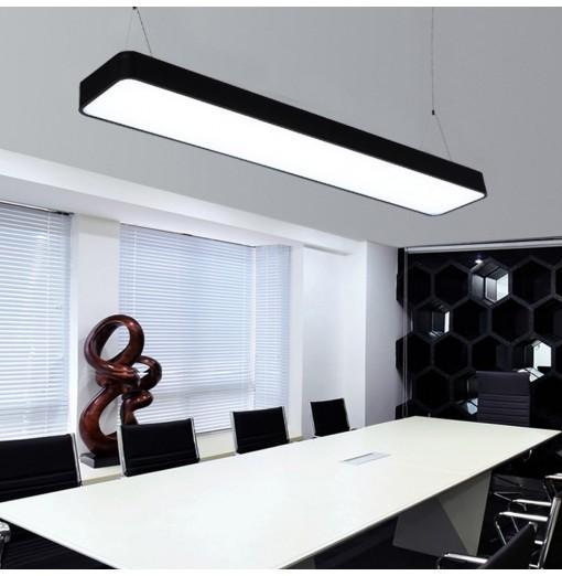BRELONG LED Indoor Office Chandelier Black Casing
