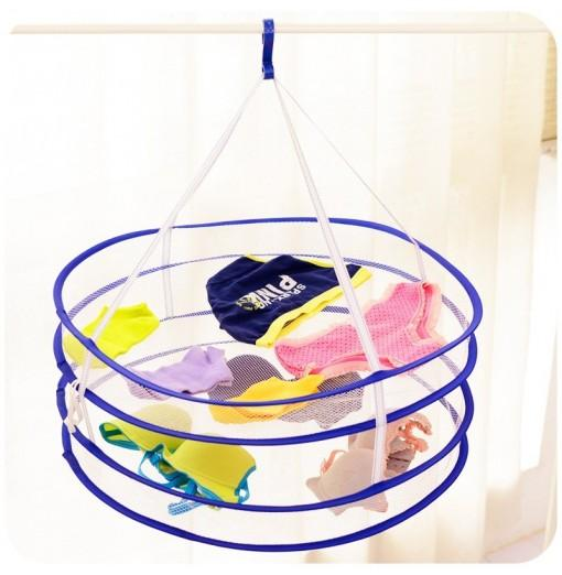 DIHE Clothes Basket Double Fold Bearing Strong Durable Drying Rack