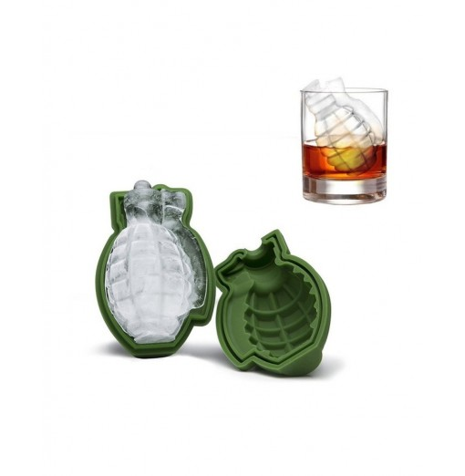 Grenade Shape 3D Ice Cube Mold Silicone Trays Tool