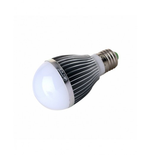 ZHISHUNJIA E27 9W 5730 18LED 5000K Light / Sound Control Bulb - AC85-265V