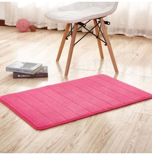 Doormat Coral Fleece Thick Anti Skidding Soft Solid Kitchen Mat