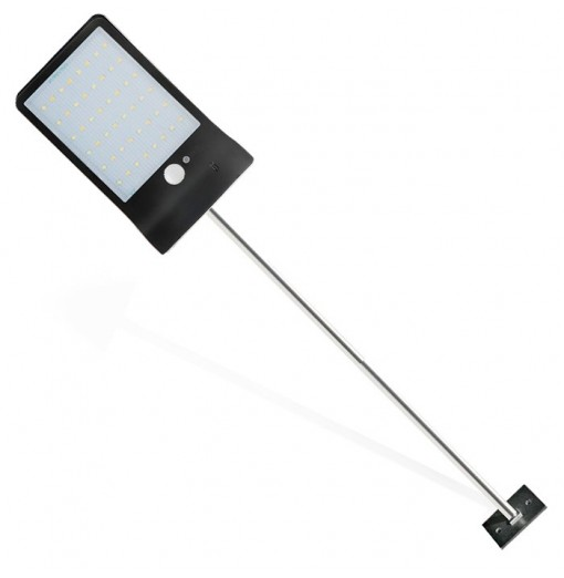 VCT - SL - 019 48-LED Ultra-thin Solar Power Wall Light with Rod for Outdoor