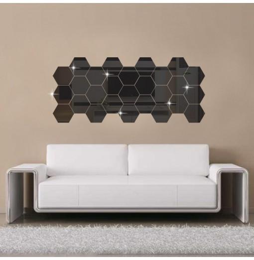 Hexagon 3D Diy Mirror Wall Sticker Decal Home Decoration